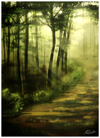 Forest Speed Painting by SimplyKeji