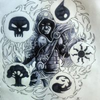 Jace the Wizard tattoo design by BluBoiArt