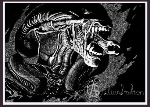 Tribute To H R Giger The Feral Beast by AG-sArt