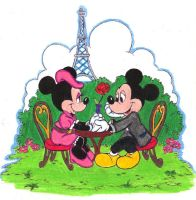 Disney Day Coloring Contest Day 3 Mickey x Minnie by Puja723