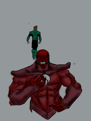 Atrocitus of Red Lantern Corps by AlphaD16