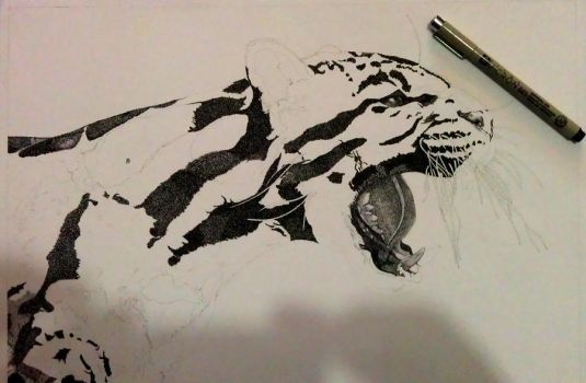 Coulded Leopard WIP by PittuMcflurry