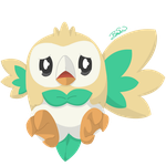 Pokemon - Rowlet (Beel) by PirateGod3D2Y