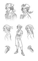 Pirate sketches by kyla79