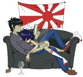 Murdoc's daddy complex color by lily-fox