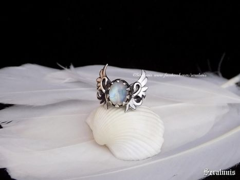 'Angel's Light', handmade sterling silver ring by seralune