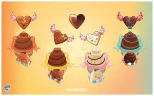 Kawaii Chocolates by KawaiiUniverseStudio