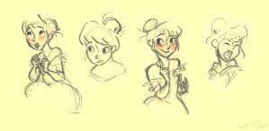 princess sketches by marlenakate