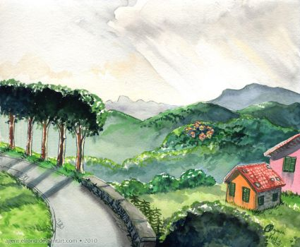 Italy - Tuscan Hills by GoldeenHerself