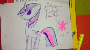 Alicorn Twilight  by theshadowpony357