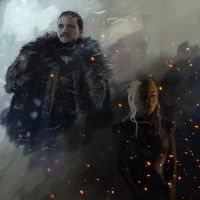 Jon and Dany Fire and Ice by Maes-Artwork