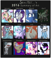 2016 summary of art by Serri765