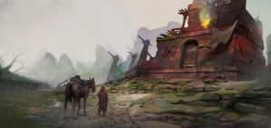 Road to Frontier Bastion by Asahisuperdry