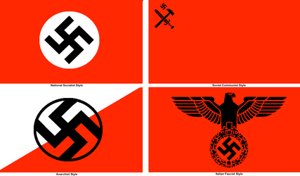 Nazi Flag in Different Forms by MyLittleTripod