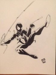 Symbiote Spider-Man sketchbook drawing by robertamaya