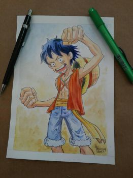 One Piece, Luffy by snarebang