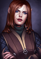 Commission: An'lyen Rosefeather by Irina-Isupova