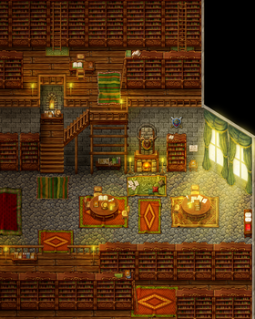 Dragonboy: Library by PinkFireFly