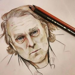 Brad Dourif portrait  by RatTheRipper
