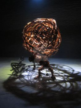 my copper wire sculpture of Atlas