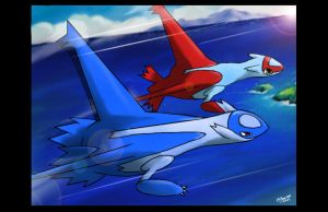 latios n' latias from pokemon