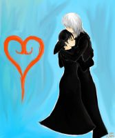 Riku and Xion by FL-Amy