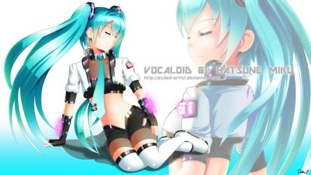 Hatsune Miku - Practice 2 (Wallpaper) by Exiled-Artist