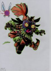 Skull kid 2 (color) by stefano-roca