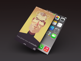 Steve Jobs ios7 by Laugend