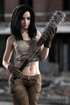 Gina in the zombie apocalypse 2 by FranPHolland