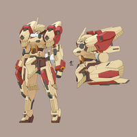 Kryin Mobile Suit (commander type) by wdy1000