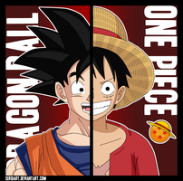 Dragon Ball x One Piece by SergiART