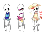Beach Outfits - CLOSED by MaiaSadoptsNstuff