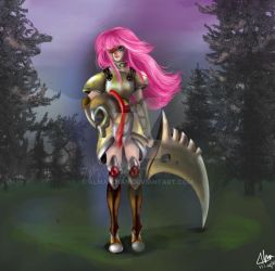 pink hair warrior remake by alma-chan