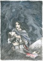 Don't leave me now (The death of Beleg) by Ephaistien
