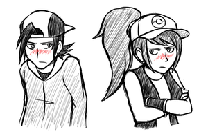 Tsundere James and Nina by BlazeDGO