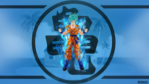 Wallpaper goku ssj blue By Neokage2 by neokage2