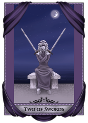 Two of Swords: Tanria by RaptorRia