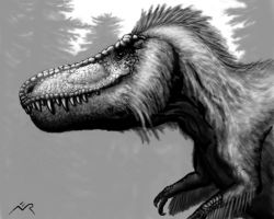 Feathered Tyrannosaurus Portrait by MicrocosmicEcology