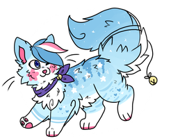 Starred Blue Cupcake SugarCat // AUCTION // CLOSED by catpaths