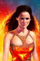 girl on fire by strannaya-anna