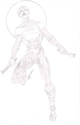 New 52 Nightwing  Sketch by blaquejag