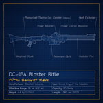 DC-15A Blaster Rifle Blueprint by graphicamilitare