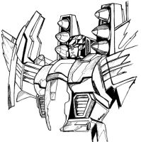 War Within Starscream BW by Scream01