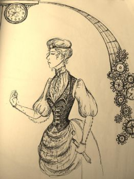 steampunk sketch by renaissancegirl14