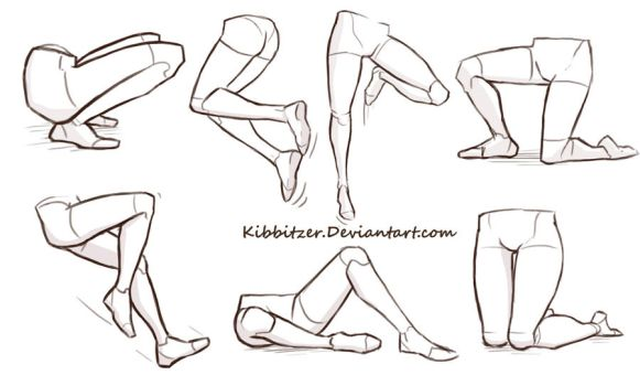 Legs reference sheet by Kibbitzer