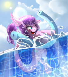 Commission : Pool Noodle by NihiTheBrony