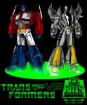 Optimus Prime and Leader 1 by Giga-Leo