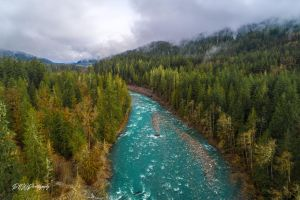 Morning flight over the Sauk by PNWDronetography