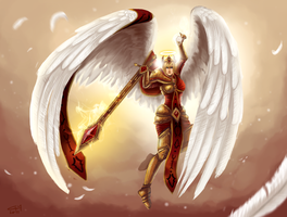 Righteous Kayle - Kayle Redesign by fivetinsoldiers